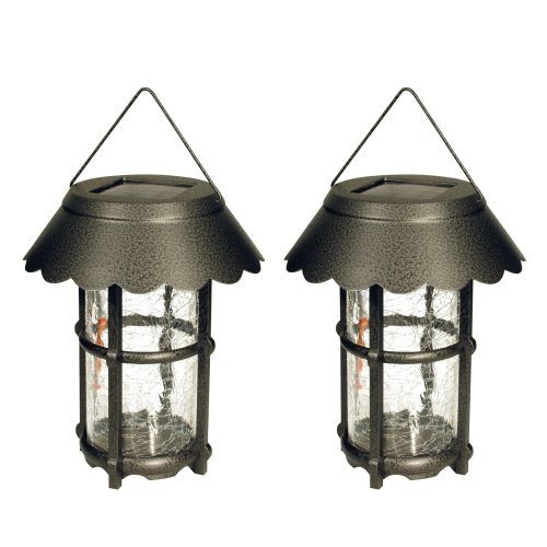 Malibu Outdoor One-Light Solar-Powered Metal Hanging