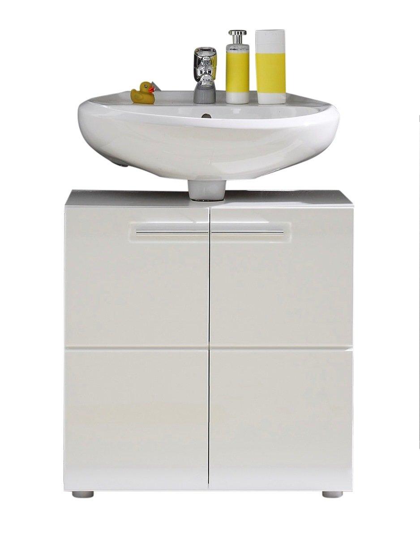 trendteam BR30101 Bad Waschbeckenunterschrank weiss Hochglanz, BxHxT 60x56x34 cm    Überprüfung und weitere Informationen