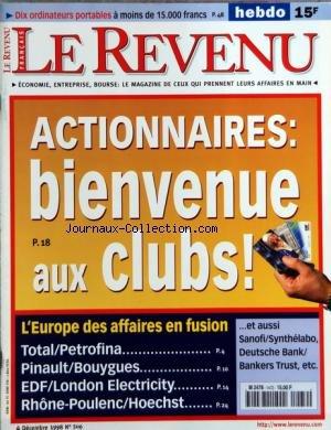revenu-le-no-506-du-04-12-1998-actionnaires-bienvenue-aux-clubs-leurope-des-affaires-en-fusion-total