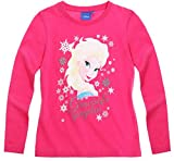 T-Camiseta de manga larga para niña, diseño de La reina de las nieves, color rosa oscuro 4 a 10 años Rosa rosa