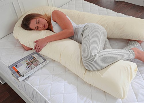 lancashire-textiles-big-c-u-maternity-pregnancy-support-hollowfibre-filled-pillow-with-removable-cre