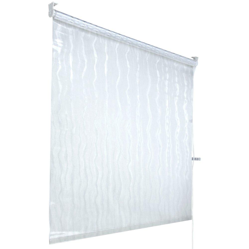 Aquamarin® - Cortina de ducha enrollable para montaje en el techo, transparente (4 anchuras a elegir)   Más información y revisión del cliente