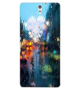 ColourCraft Water Drenched Mirror Design Back Case Cover for SONY XPERIA C5 ULTRA DUAL