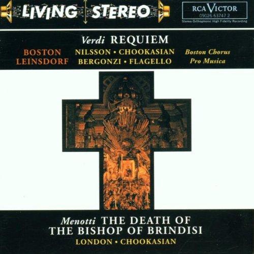 Verdi: Requiem / Menotti: Death of the Bishop of Brindisi / Schoenberg ~ Leinsdorf