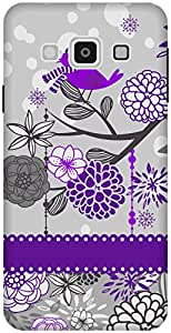 The Racoon Grip printed designer hard back mobile phone case cover for Samsung Galaxy A3. (Purple Spa)