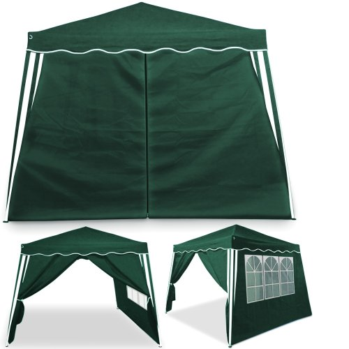 tente pliante 3 3 m tonnelle pavillon jardin pliable vert sac de transport. Black Bedroom Furniture Sets. Home Design Ideas