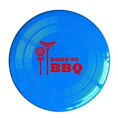 Born To BBQ Plastic Flying Dics Disc RoyalBlue