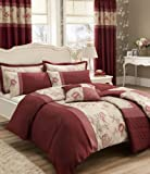 Catherine Lansfield Gardenia Super King Quilt Set, Red