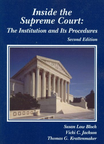 Bloch, Jackson, and Krattenmaker's Inside the Supreme...