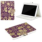 JAVOedge Golden Garden Universal 7-8 Book Case for the iPad Mini, Samsung Tab, Nexus 7, Nook HD (Purple)