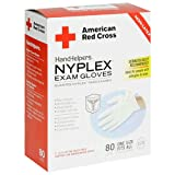 American Red Cross 1880-50 Disposable Nyplex - Latex Free Gloves, Case Pack, Six - 80 Count Boxes (480 Pairs)