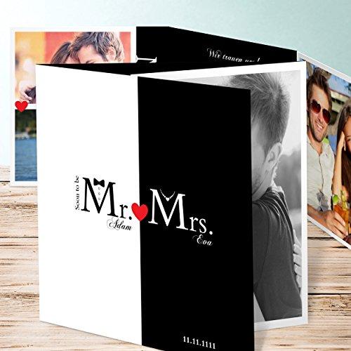 Hochzeit Einladungskarten Vintage, Mr & Mrs 200 Karten ...