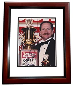 Dale Earnhardt Sr. Autographed Hand Signed Racing 8x10 Trophy Photo MAHOGANY CUSTOM... by Real Deal Memorabilia