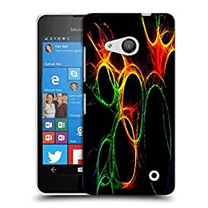 Snoogg Abstract Circles Designer Protective Phone Back Case Cover For Nokia Lumia 550