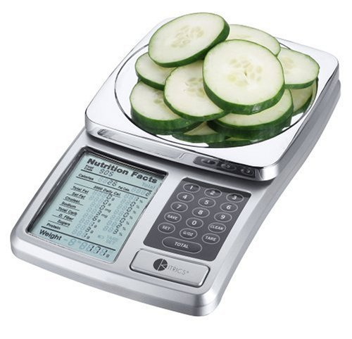 Kitrics Digital Nutrition Scale (Silver) (Food Calorie Scale compare prices)