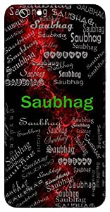 Saubhag (Full Of Fortunes Auspicious) Name & Sign Printed All over customize & Personalized!! Protective back cover for your Smart Phone : Moto G3 ( 3rd Gen )