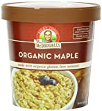 Dr. McDougall?s Right Foods Organic Maple Oatmeal Cups Made with Organic Gluten Free Oatmeal, 2.5-Ounce Cups (Pack of 6)