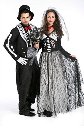 Ponce Halloween Skeleton Suit Couples Suite Halloween Zombie Rpg