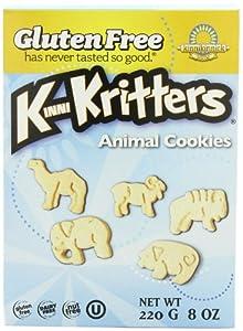 Kinnikinnick Foods KinniKritters Animal Cookies, Gluten Free, Wheat Free, Dairy Free, 8-Ounce Box (Pack of 6)