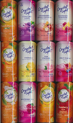 Crystal Light Drink Mix Variety Pack with 12 Flavors ~ (Pack of 12)