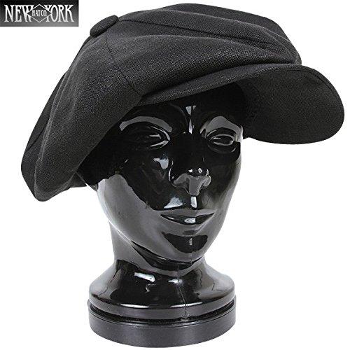 New York Hat ニューヨークハット 6200 リネン ビッグアップル ブラック [ウェア&シューズ]
