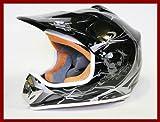 Helm Kinderhelm Motorradhelm Crosshelm Motocrosshelm Sport Schwarz L