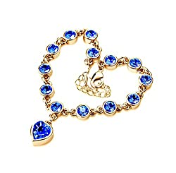 Sorellaz Royal Heart Golden Royal Rhinestone Bracelet