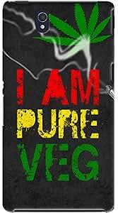 Kasemantra I Am Pure Veg Case For Sony Xperia Z