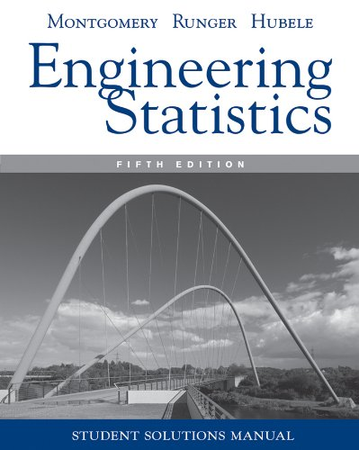 Engineering Statistics, Student Solutions Manual