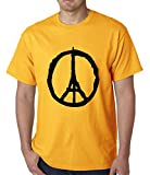 BeWild Brand® - Pray For Paris - Eiffel Tower and Peace Sign Mens T-shirt