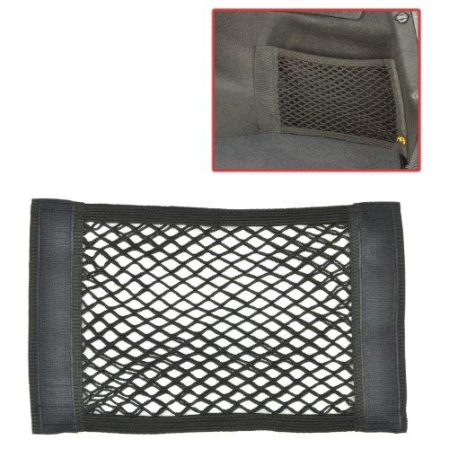 Detachable Black Mesh Car Trunk Wall Storage Pouch / Automotive Supplies Organizer – MyGift®