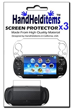 HHI Sony Playstation PS Vita Dual Crystal Clear Screen Protector (3 Pack) (Front and Back Protector) (Package include a HandHelditems Sketch Stylus Pen)