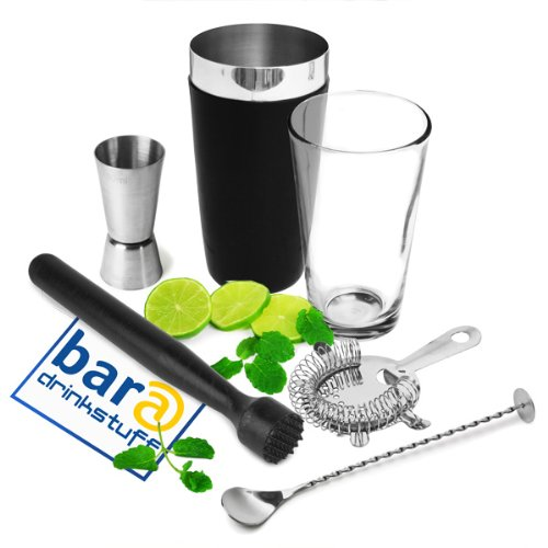 Black Vinylworks Boston Cocktail Shaker Set by