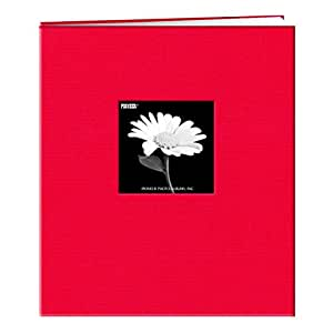 Pioneer 8 1/2 Inch by 11 Inch Postbound Frame Cover Memory Book, Apple Red