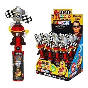 M&M NASCAR Racing Candy Fan