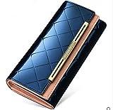 【habimode】 長財布 モード ミニバック風 クロス かわいい レディース カードケースセット (ネイビー)