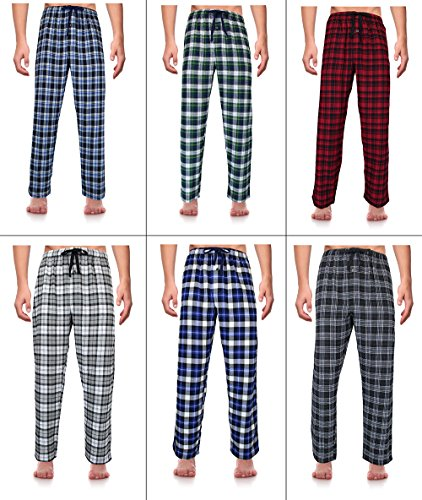 RK Classical Sleepwear Men's 100% Cotton Flannel Pajama Pants,