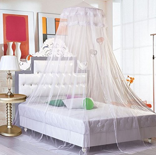 Coolout Soft Dome Princess Bed Nets Mosquito Net For Bed (White) Baby ,Spring,Summer , Autumn And Winter ,European Style Home Anti Malaria Bed Net Toddler Bed Crib Canopy Netting Dome Nets front-93574