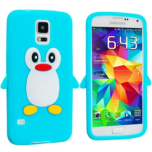 Cell Accessories For Less (Tm) Baby Blue Silicone Design Soft Skin Case Cover For Samsung Galaxy S5 // Free Shipping By Thetargetbuys front-902855