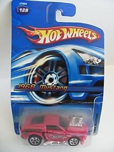 Mattel Hot Wheels 2006 Pink 1968 Mustang Die Cast Car #128 1:64 Scale