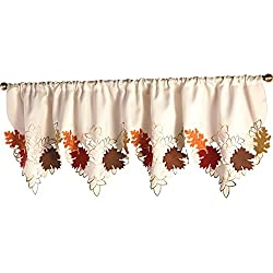 Maple Leaf Decorative Fall Window Valance