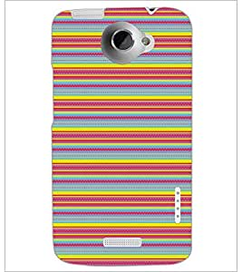 PrintDhaba Pattern D-5155 Back Case Cover for HTC ONE X (Multi-Coloured)