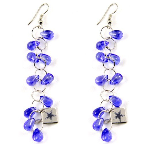 NFL Touch by Alyssa Milano Dallas Cowboys Blue Beaded Drop Earrings - at Amazon.com