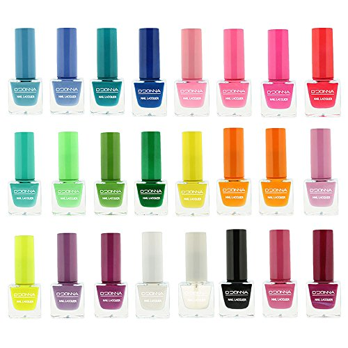 VERNIS A ONGLES, VERNIS A ONGLES LAQUE, LOT DE VERNIS A ONGLES, COFFRET DE VERNIS A ONGLES, VERNIS A ONGLES D'DONNA
