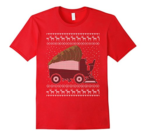 mens-christmas-t-shirt-hockey-zamboni-cutting-the-christmas-tree-xl-red