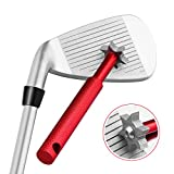 Golf Club Groove Sharpener Tool with 6 Cutters, Vancle® Golf Club Re-Grooving Cleaning Tool 6-Tip, Golf Accessories (Red)