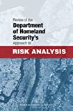 img - for Review of the Department of Homeland Security's Approach to Risk Analysis book / textbook / text book