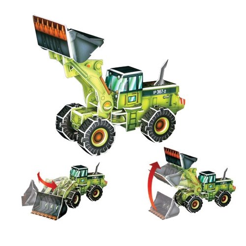 Jigsaw 3D Puzzle Transportation Series - Wheel Loader - 1