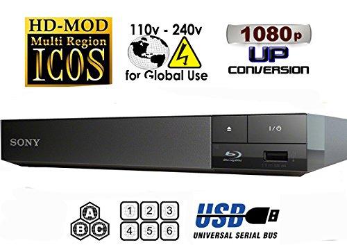 2015 SONY BDP-S1500 Lecteur Multi Zone Region Code Free Blu Ray - DVD - CD Player - PAL/NTSC - Worldwide Voltage 100~240V - 1 USB, 1 HDMI, 1 COAX, 1