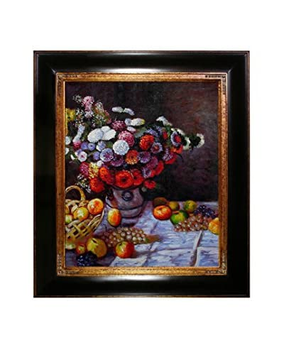 Claude Monet Flowers And Fruit Framed Hand-Painted Oil Reproduction